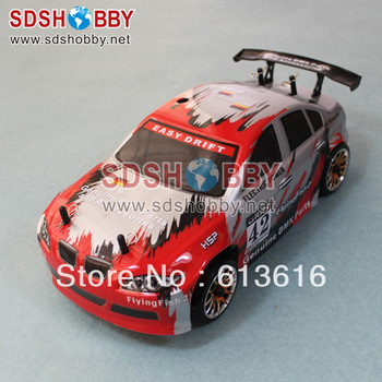 2.4G HSP 1/16th Scale RC Electric On-Road Drifting Car RTR (Model NO.:94163) with RC380 Motor, 7.2V 1100mAh Battery