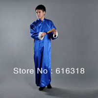 Multicolor Chinese Style Traditional Cross Talk Clothing Costumes Male Long Gown Old Shanghai Men's Clothes