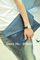 Trend 2013 new fashion Korean version of mens' clutch bag high quality PU leather male envelope bag size:36*26cm