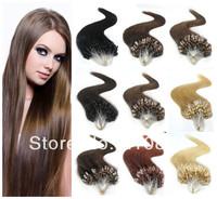 "Free Shipping 20""/50cm 100Pcs 50g 100% Remy Micro Ring Loop Human Hair Extensions Brazilian Virgin"
