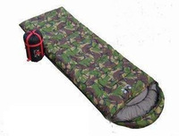 Free Shipping! Camouflage sleeping bag outdoor camping sleeping bag envelope style autumn and winter adult sleeping bag cotton