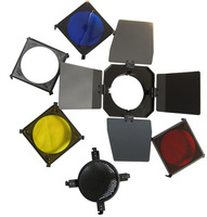 4in1 Photo Studio 15cm Barndoor Honeycomb for Flash Light HOT SALE