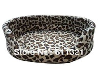 Free Shipping New Pet Dog Puppy Cat Bed House Comfortable Cozy Nest Soft Kennel for Dogs Leopard Blue Red 5 Sizes V3287