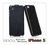 Top Quality Real Leather Case For iphone 5 5s Flip Case Luxury Original HOCO Duke Genuine Leather For iPhone 5g Cover
