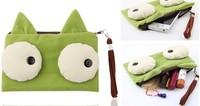 4PCS Kawaii Canvas BIG Eyes Kitty CAT Pen Pencil BAG Pouch Case ; Coin Purse & Wallet BAG ; Cosmetics Holder Beauty BAG Case