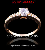Size6/7/8/9/10 Champagne  WHhite sapphire Woman's 14KT Ye8ow Gold Filled Ring Gift 1pc  Freeshipping