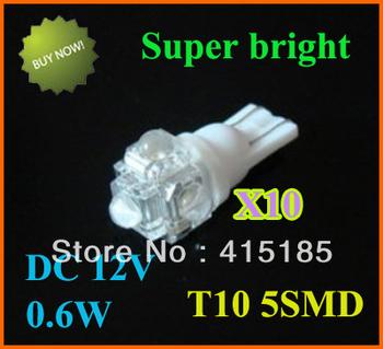 Wholesale Free shipping T10-4LED + 1LED piranhas LED auto lamp door light W5W 194 10pcs/lot