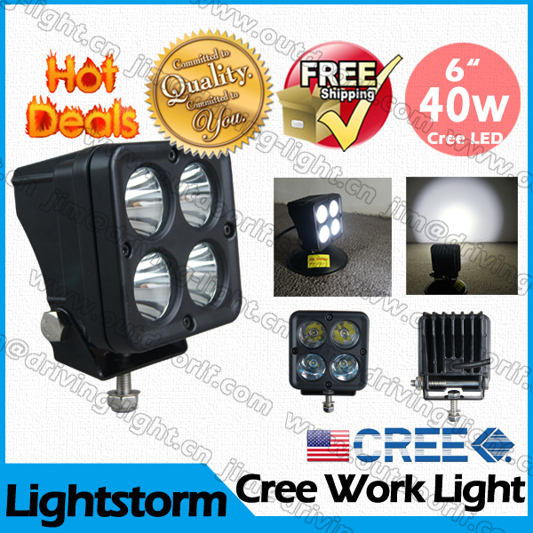 3 Pcs Free shipping Sale ! Super Bright Factory direct sale ! 40W LED work light cree truck tractor lamp heavy duty off road(China (Mainland))