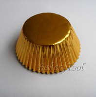FREE SHIPPING 200 pcs foil gold paper cups manufacturer in uae  baking paper muffin cases for wedding cake on promotion