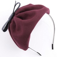 Hair accessory woolen beret hair bands cap hair accessory hair pin cap headband