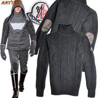 [ANYTIME]Wholesale Brand-LOGO MO leisure turtle neck Men's Sweater Men Knitwear Cardigan Sports Jacket-Free Shipping