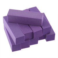 10 pcs BlockBuffer Acrylic Nail Art Sanding  Files purple Hot Selling