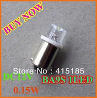 150pcs free shipping T8 BA9S 1LED Concave super bright 12v car light/ led lamp / Light Bulbs