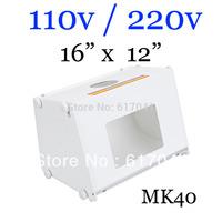 5pcs/lot Professional Portable Mini Photo Studio light Box Photography Backdrop built-in Light -MK40 for UK online socks seller