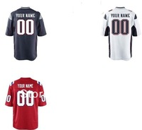 Men's American Football Jerseys New England Customized Game Jersey Embroidery and Sewing logos Size:S-XXXL Free Shipping