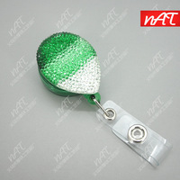 Bling Crystal reel retractable ID reel holder