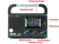 DEGEN DE16 FM/FML MW SW Crank Dynamo Solar Emergency Radio World Receiver A0901A Alishow