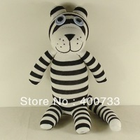 Christmas New year gift 100% handmade DIY stuffed sock animals doll baby toys white  tiger