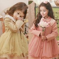 2013 Fashion fall pearl  Elegant princess sweet girl child kids dress  Baby Tulle Lace Dress Christmas gift