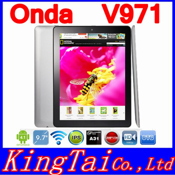 Onda V971 Quad Core Tablet PC Ratina screen 9.7 inch Allwinner A31 2GB RAM 16GB Rom HDMI Android 4.1