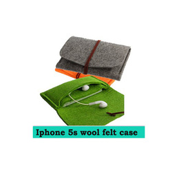 For iphone 5s case in new concept design wool leather keep the creen different color available in drop shipping service(China (Mainland))