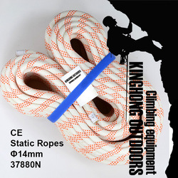 New 20M static rope Nylon 37.88KN breaking strength 14mm diameter rock climbing rope for sports safety rope (rope-24)(China (Mainland))