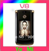 hot sale original unlocked  V8 mobile phone Gold RAZR with 512 or 2GB internal memory luxury version free shipping