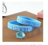 (free shipping CPAM) 20 Pcs/lot INFINITE silicone  bracelet   unisex can select multi-style with blue and pink