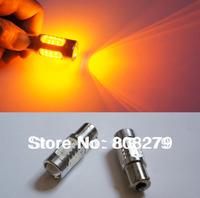 2pcs/Pair 1156 BA15S P21W High Power Car FRONT/REAR Turn Signal Bulb 7.5W Yellow AMBER