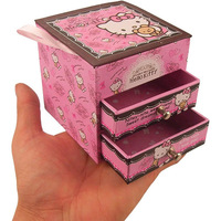 Special offer Hot sale Hello kitty jewel case MINI storage box Cardboard cosmetics Box Lovely gift boxes Gift packing cases