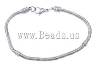 New Arrival ! Stainless Steel European Bracelet Bangles 5Pcs/lot Factory Price Free Shipping