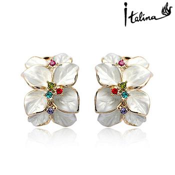 Italina Rigant Genuine Austria Crystal earring/Crystal Pendant Earrings/flower With Austrian Crystal Stellux  #RG84844