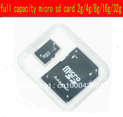 Brand NEW 4GB MICROSD MICRO SD HC MICROSDHC TF FLASH MEMORY CARD REAL 4 GB WITH SD ADAPTER(China (Mainland))