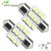 Free shipping 10pcs 31mm 12 SMD 3528 LED Car Dome Festoon Interior Indicator Light Bulb Lamp