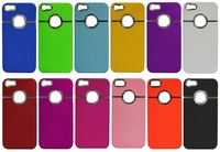 New DELUXE Hard Back Cover Case Skin With CHROME FOR iPhone 4S