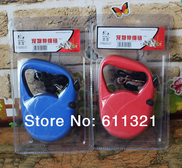 Pet Dog Cat Nylon Retractable Leash Harness Training Leads Leashes Products for Dogs Collar Random Color 300cm/500cm #3439(China (Mainland))
