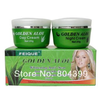golden aloe whitening anti-scar and anti -freckle nourishing day cream+night cream