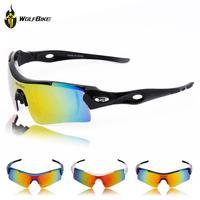 WOLFBIKE UV400 Polarized Lens Cycling Riding Bicycle Bike Sports Sun Glasses Sunglasses Eyewear Goggle 3 Lens 3 Colors