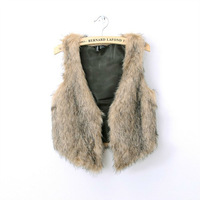 Free Shipping special Womens faux fur vest  Joker faux fur vest wholesale W0329