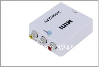 Hdmi av converter rca fpv set tv mini hdmi2av HD Full 1080p to CVBS Signal for VHS VCR DVD record New Mini Video Box L/R Adapter