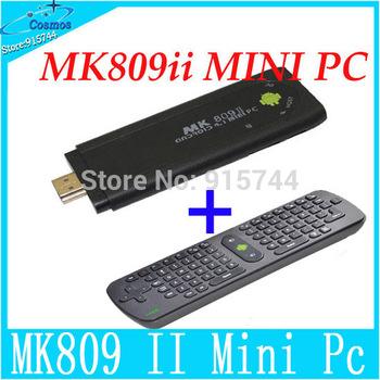 4Packs=2Pcs RC11 Keyboards+2Pcs l MK809 II Android 4.1 Mini PC  RK3066 Dual Core Cortex-A9 1.6GHz RAM 1GB/ROM 8GB Bluetooth 2.1