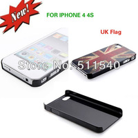 Free Shipping Vintage British UK Flag Pattern Hard Case for iPhone 4 4S (Union Jack)
