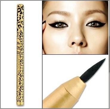 Leopard Design Waterproof Liquid Eyeliner Pencil Eye Liner Eye Liner Pen New #Dazzle black(China (Mainland))