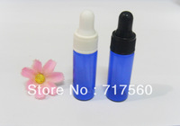 5ML COBALT BLUE GLASS EYE DROPPER BOTTLES VIALS ESSENTIAL OIL/PERFUME/ LIQUID BOTTLES 100PCS