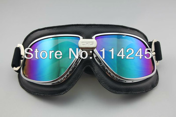 Pilot Cruiser Motorcycle Scooter ATV Ski Off-Road Goggle Eyewear T11 Colour Lens