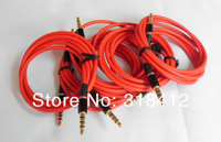 5pcs/lot High quality 3.5mm Male to Male Detox/Pro Headphone Replacement Audio cable Extension Stereo  AUX Cable free shipping