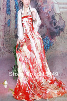 HOT chinese traditional clothing  Han couture sets Slip Skirt dress film and television costume 2 color