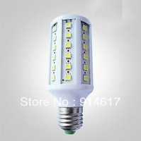 Energy Saving 220V-240V E27 10W 60 SMD 5050 LED Bulb Lamp Corn Light 1080LM White/Warm white Led Lighting Free Shipping