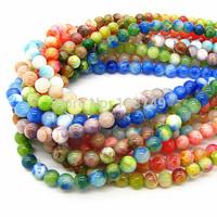 Natural Tourmaline Semi Precious Stone Persia Jade Spacer Cross Agate Karma Colorful Beads for DIY Jewelry Making HB404