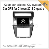 Support Parking Camera Keep car original CD system,Free shipping 8''car GPS for Citroen 2012 C-quatre,